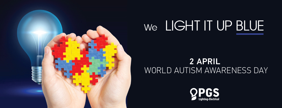 WE LIGHT ΙΤ UP BLUE FOR THE WORLD AUTISM AWARENESS DAY